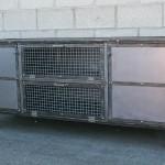 modern steel console