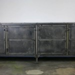 solid steel media console