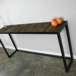 modern industrial sofa table