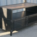 reclaimed wood media console