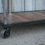 industrial reclaimed wood retail display