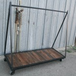 reclaimed wood clothing rack