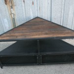 modern industrial corner unit media console