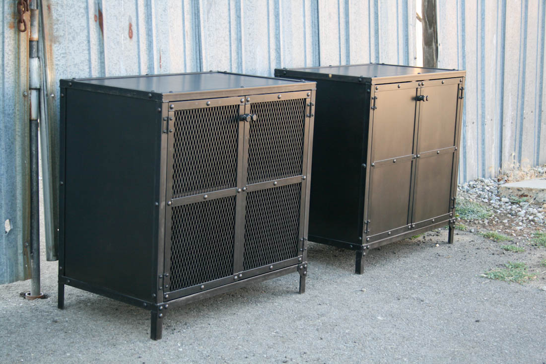 Combine 9 Industrial Furniture Industrial Nightstand