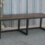 modern industrial bench