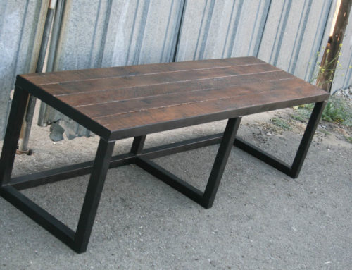 Modern Industrial Style Bench.
