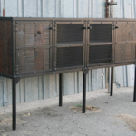 rustic industrial hutch