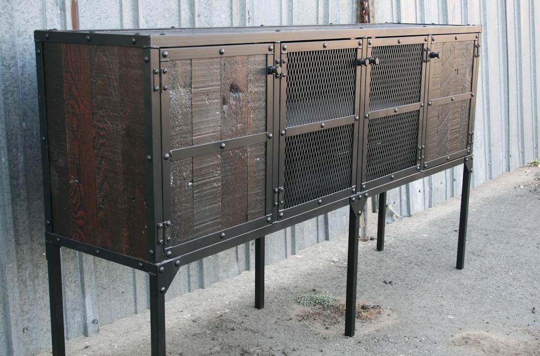 Combine 9 Industrial Furniture Rustic Buffet Hutch
