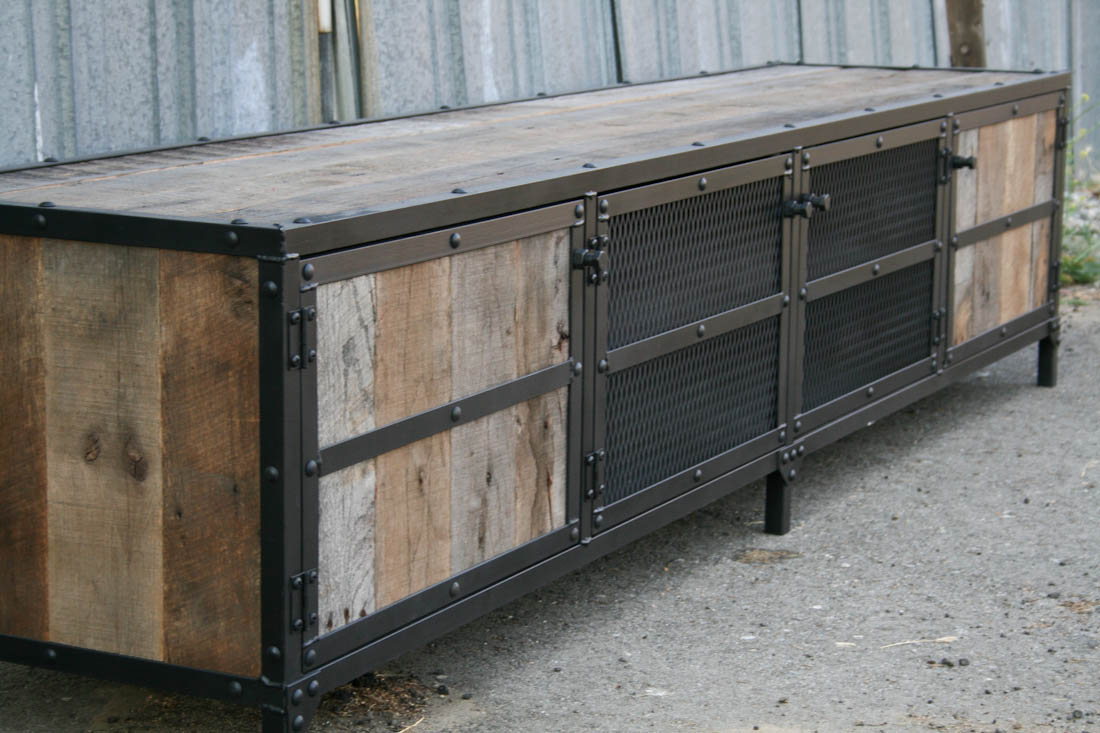 New Combine 9 | Industrial Furniture – Industrial Rustic Credenza YA18