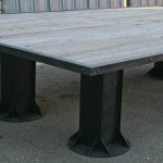 reclaimed wood and steel conference table
