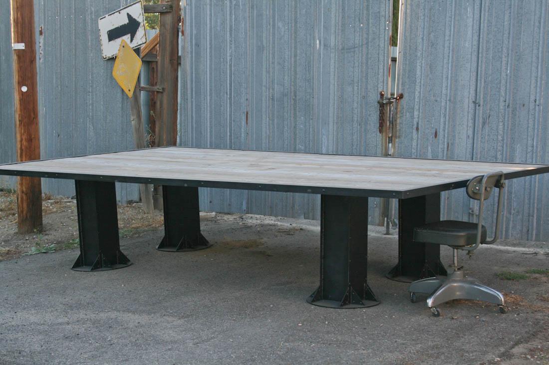 Combine Industrial Furniture VintageModern Industrial - Industrial conference room table