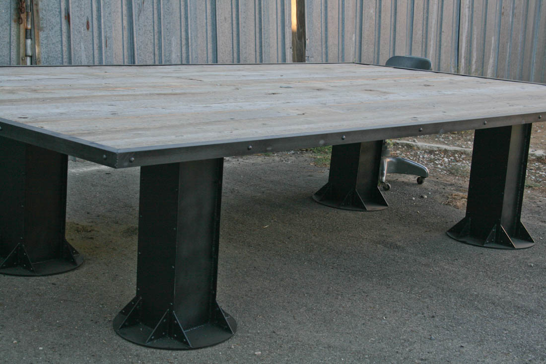 Vintage/Modern Industrial Conference Table