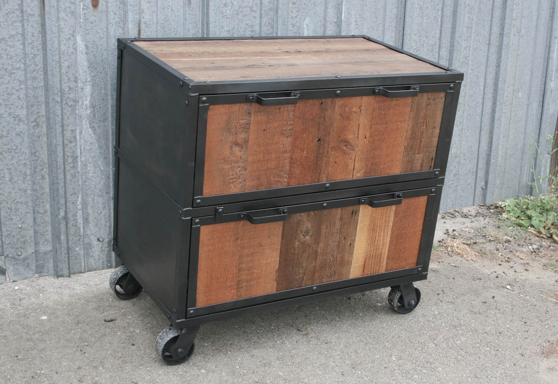 reclaimed wood file cabinet - Small File Cabinet