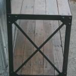 industrial coat rack with shelf