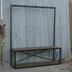 modern coat rack with bench