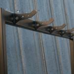 modern industrial coat rack