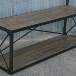 industrial rack with bench
