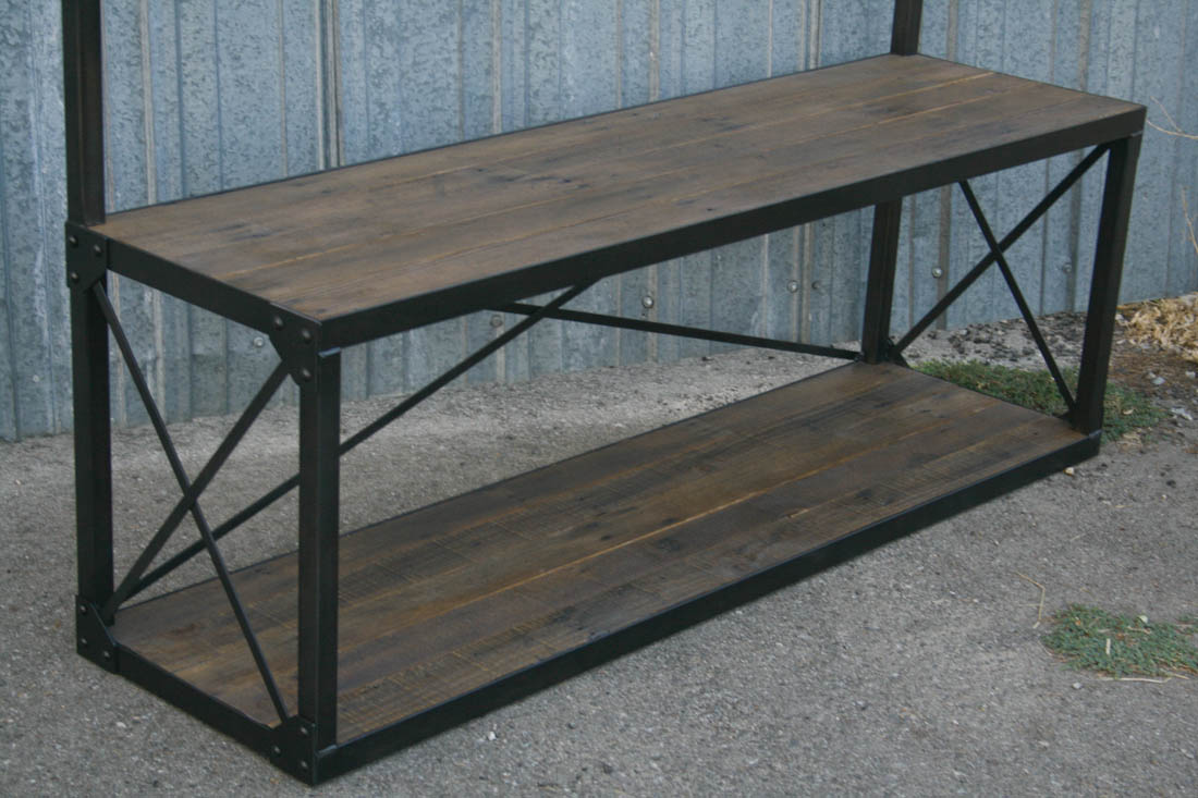 Industrial Coat Rack With Bench Combine 9 Industrial