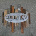 industrial reclaimed wood sign