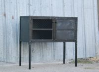Modern steel console table