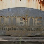 industrial steel oval sign