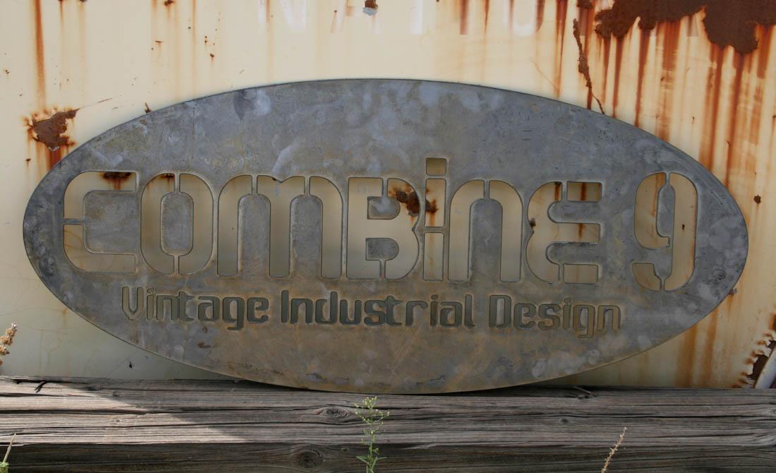 Custom Industrial Sign Combine 9 Industrial Furniture