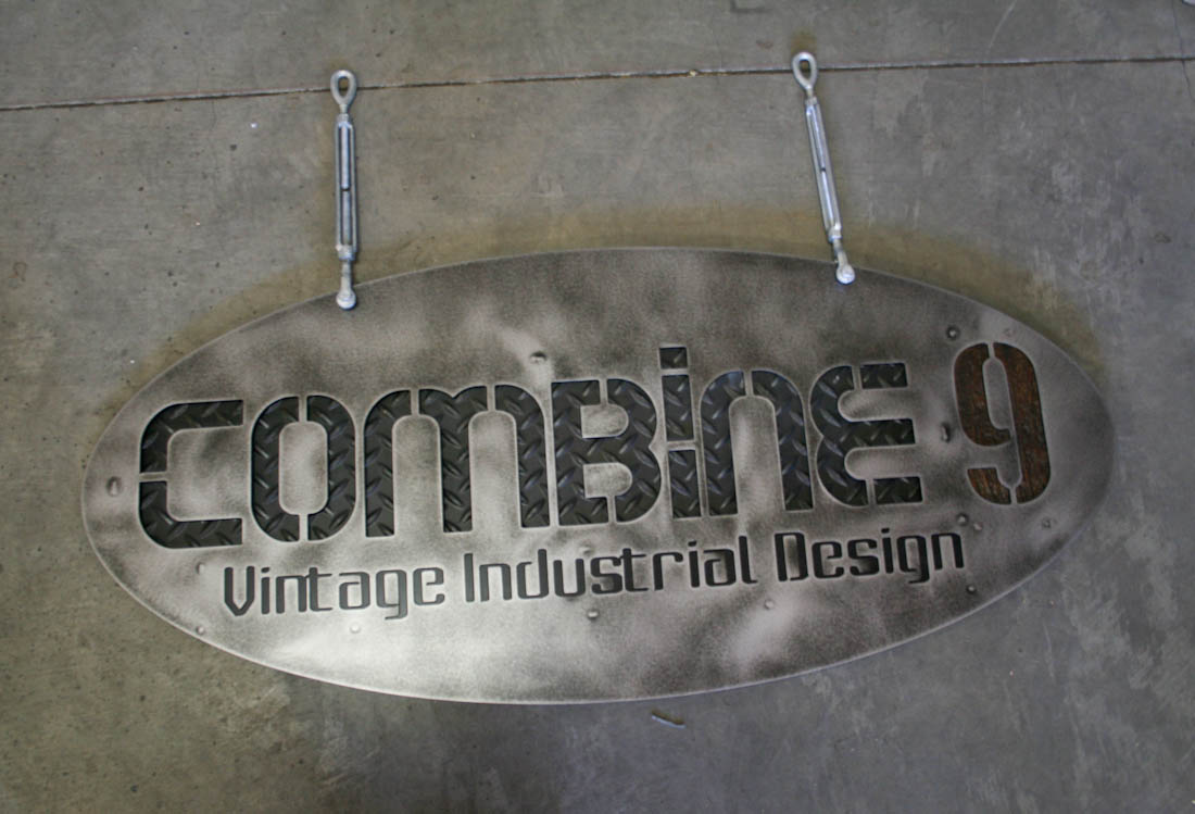 Industrial Hanging Sign