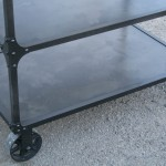 industrial steel bar cart