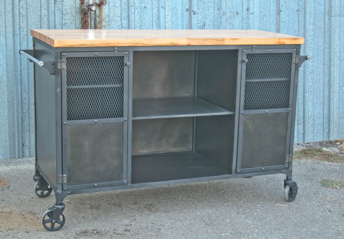 Industrial Kitchen Island Modern Bar Cart Combine 9