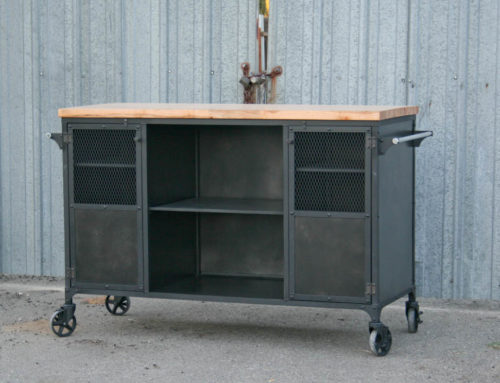 Industrial Kitchen Island, Modern Bar Cart