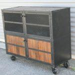 reclaimed wood bar cart