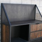 modern bar cart with surround