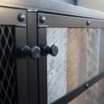 vintage industrial cabinet with storage