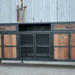 industrial steel credenza with casters