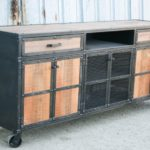 industrial credenza with casters