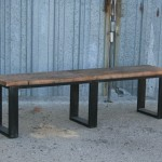 reclaimed wood and steel seating