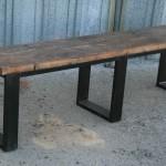 modern steel bench