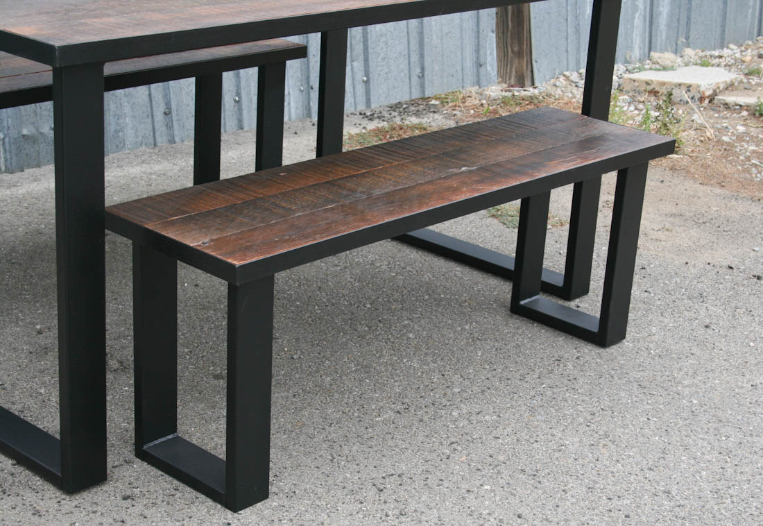 Modern Dining Set (Reclaimed Wood)