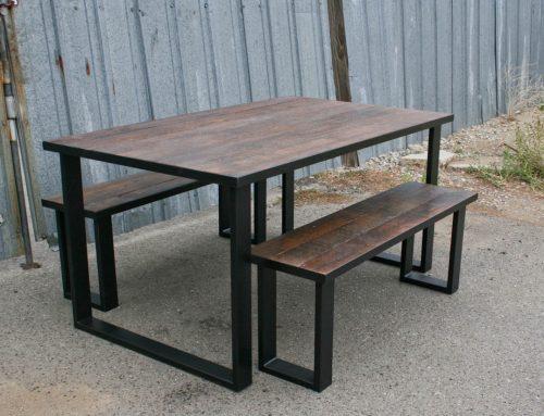 Modern Dining Set (Reclaimed Wood)