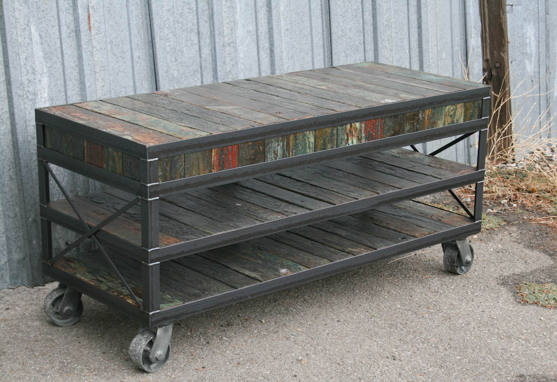 Combine 9 Industrial Furniture Unique TV Stand