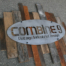 reclaimed wood and steel sign
