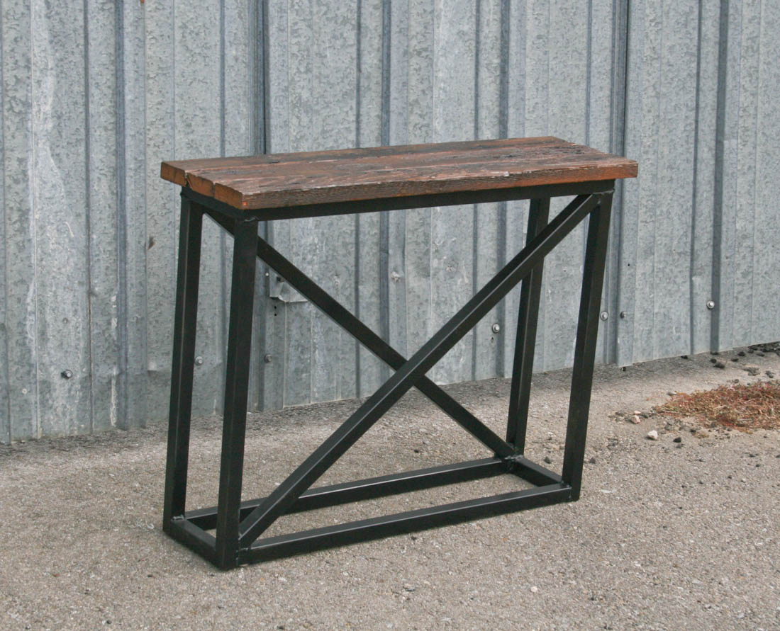 Combine 9 industrial furniture industrial console for Table furniture