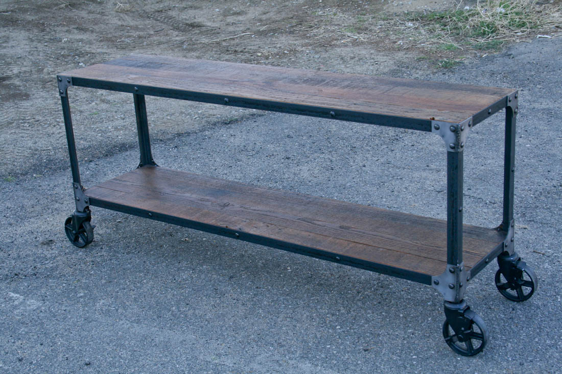 Industrial Cart · Reclaimed Wood Console Table · Reclaimed Wood Cart