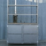 polished steel hutch