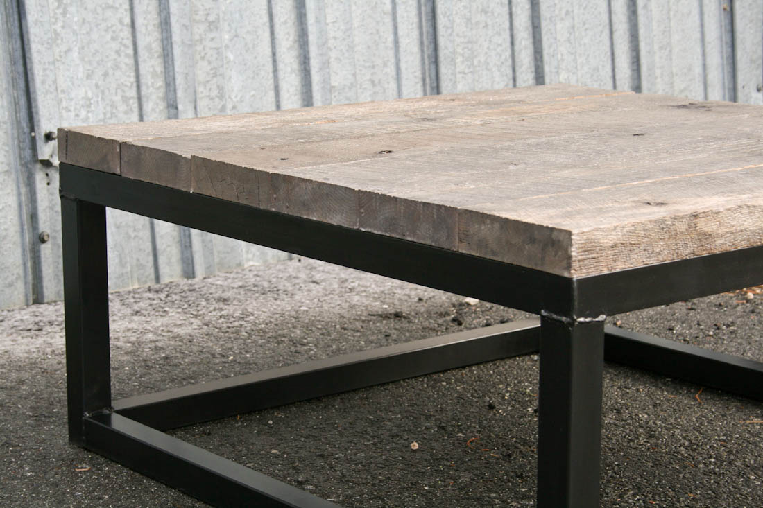 Reclaimed Wood Coffee Table Combine 9 Industrial Furniture