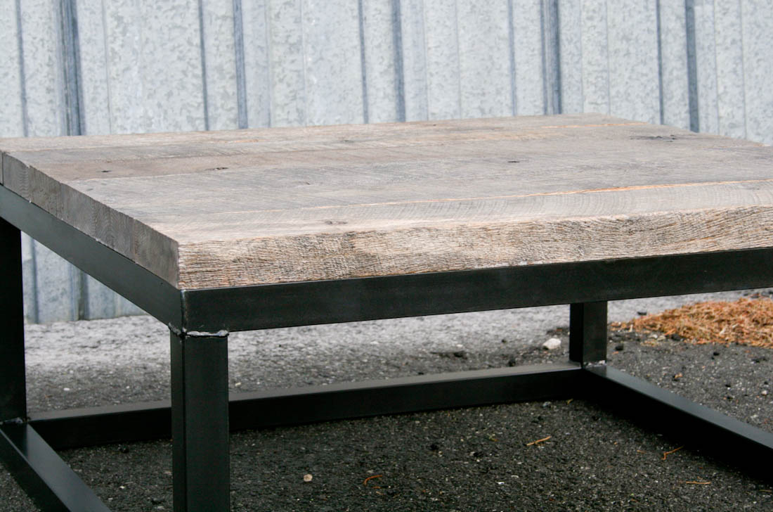 Combine 9 industrial furniture reclaimed wood coffee table project description this reclaimed wood coffee table geotapseo Choice Image