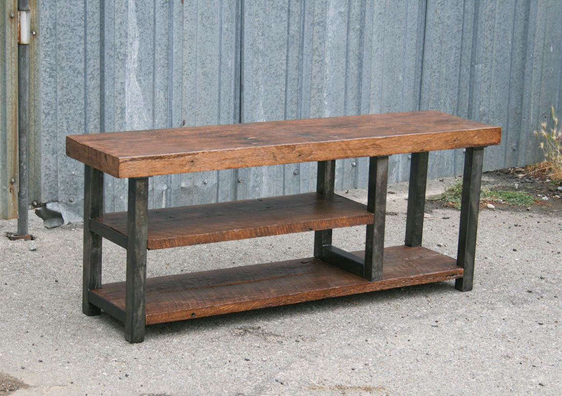 Industrial Wood Furniture. Exellent Furniture Steel And Reclaimed Wood  Bench On Industrial Wood Furniture I