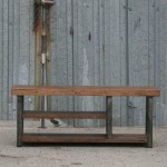 industrial bench with shelf
