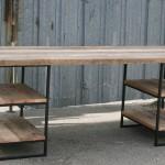 modern industrial oak desk