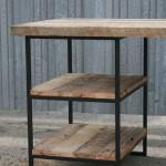 modern desk with shelves